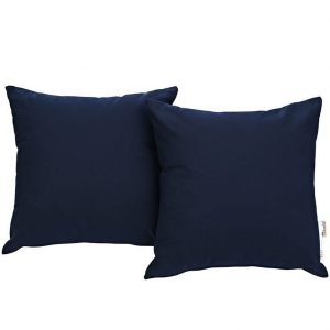 Navy Canvas Outdoor Pillows