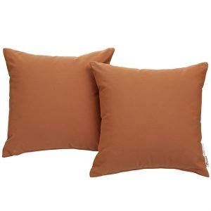 Orange Canvas Outdoor Pillows