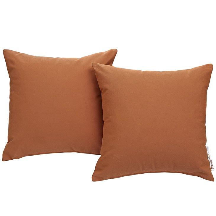 Orange Canvas Outdoor Pillows