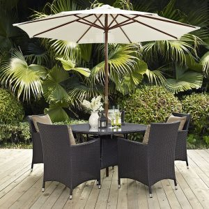 Table and Umbrella Patio Dining Set
