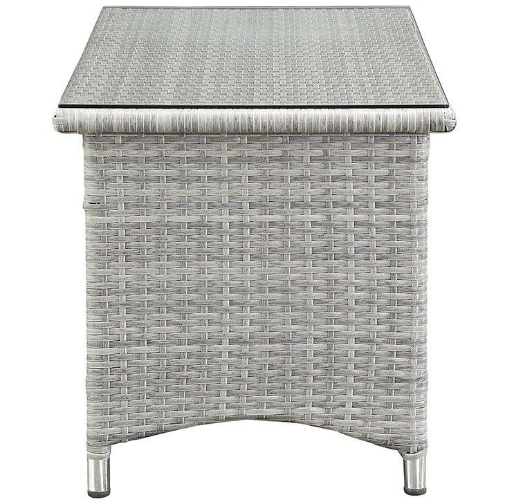 Gray Wicker Patio Table