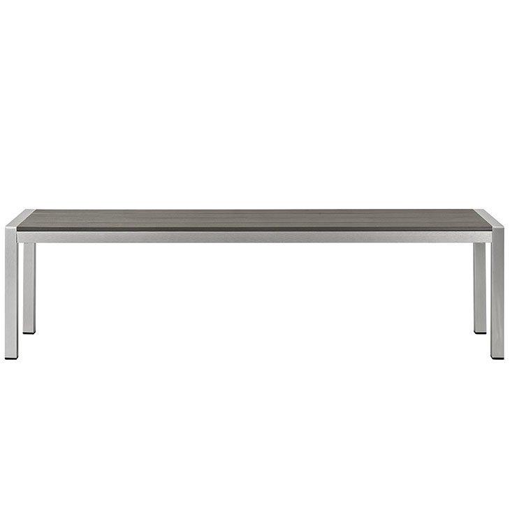 Outdoor Patio Aluminum Bench Patio Furniture Co