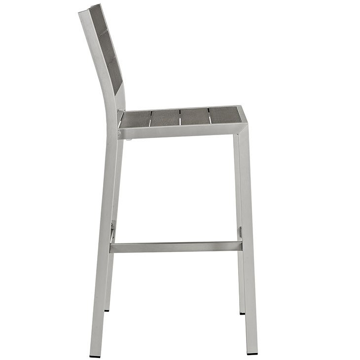 Gray and Silver Outdoor Pub Stool