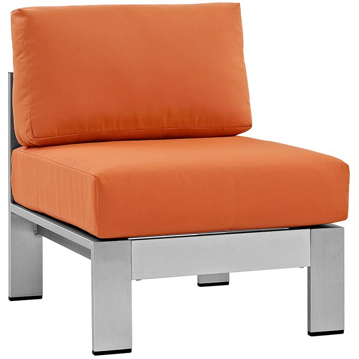 Armless Aluminum Patio Chair