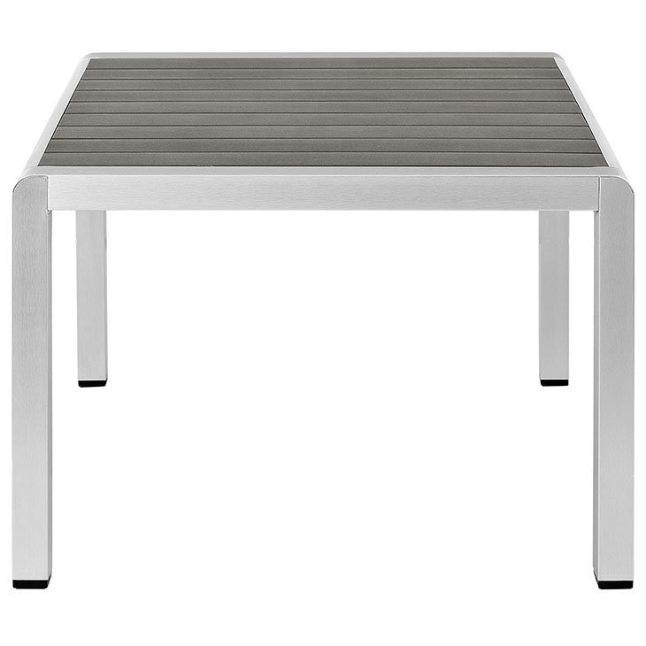 Brushed Aluminum Table Outdoor Patio