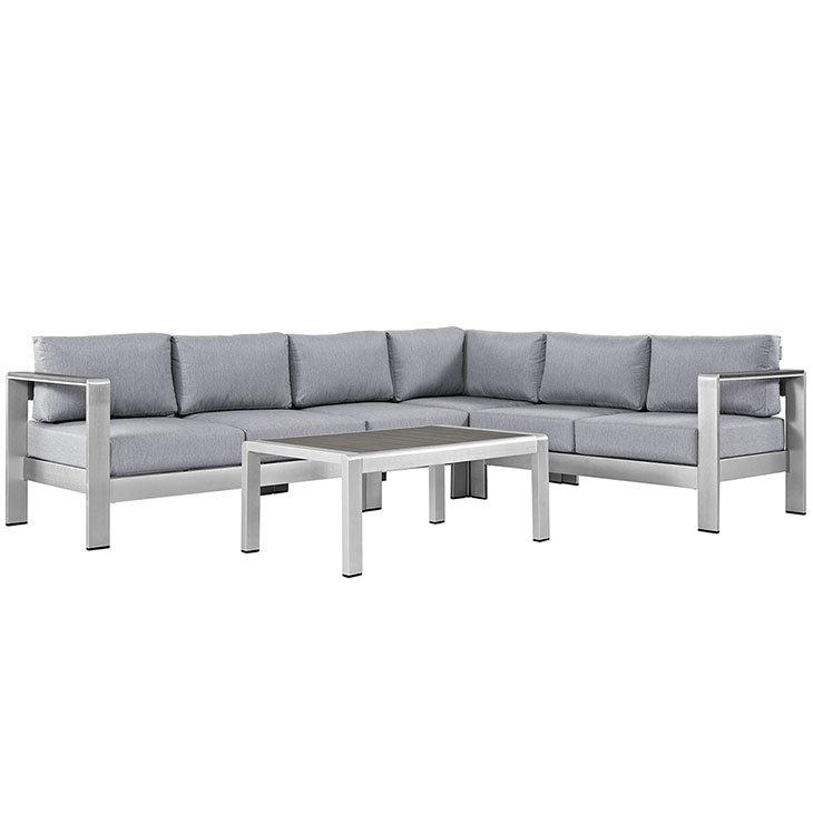 5 Piece Aluminum Patio Sofa Set