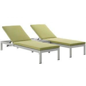 Patio Chaise Lounge Set in Green