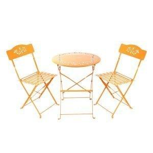 Orange Bistro Set