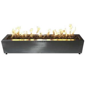 Gas Fire Pit in Stainless Steel with Electronic Ignition