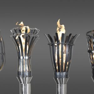 Outdoor lighting, patio torches, patio torch, outdoor torches, Top Stainless Steel Example