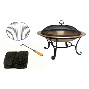 30 inch Copper Fire Pit with Canvas Carrying Case