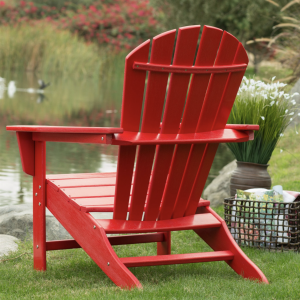 Adirondack Chair Red Back View