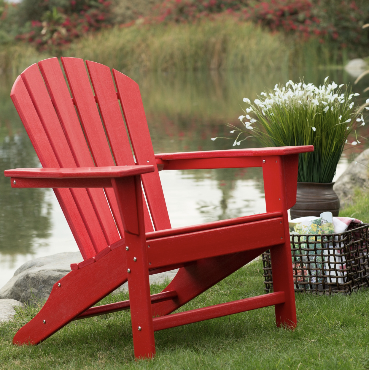 Ordinaire Adirondack Chair Red Poly