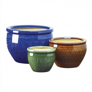 Ceramic Flower Pot Trio