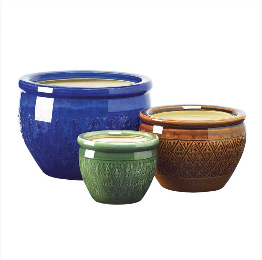 Ceramic Flower Pot Trio