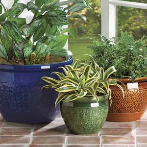Colorful Ceramic Flower Pot Trio
