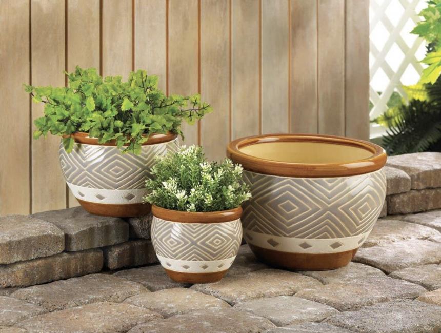 Earth-Tone Planter Pots