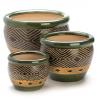 Jade Ceramic Pot Set of 3