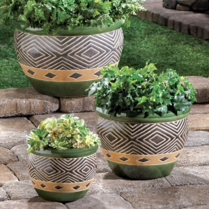 Jade Planters Set of 3