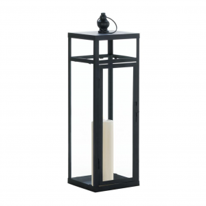 Large Black Iron Candle Lantern