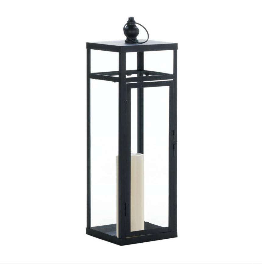 Large Black Iron Candle Lantern