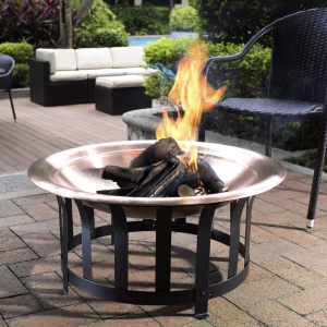 Patio Fire Pit with Steel Stand