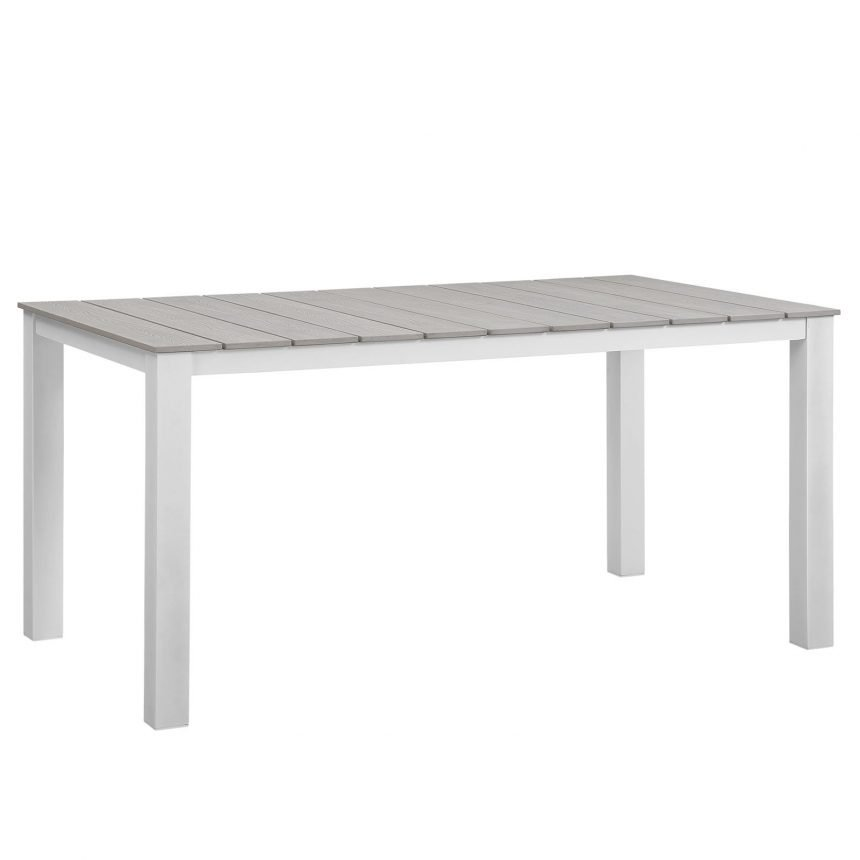 White and Lt Gray Aluminum Table