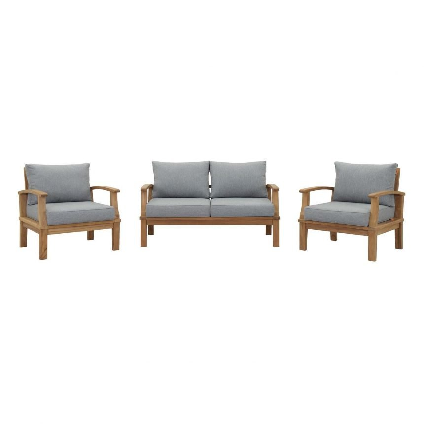 Teak Set in Gray