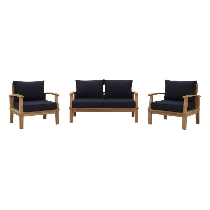 Teak Set in Navy