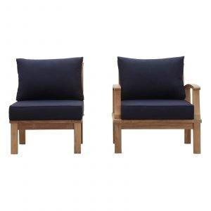 Teak Chair set in Navy