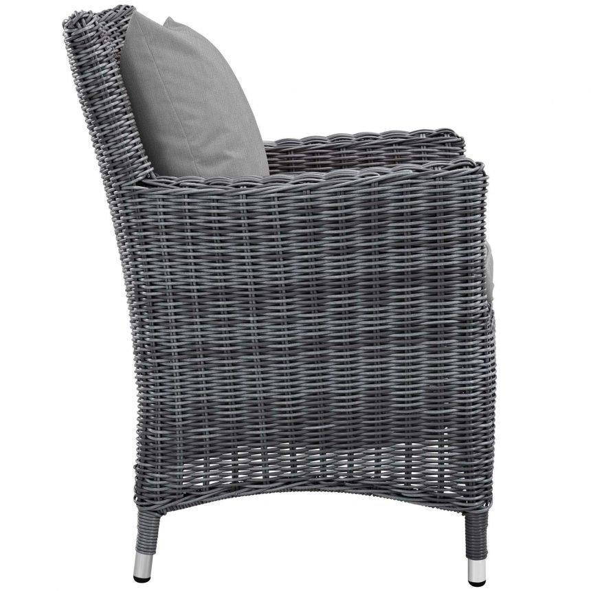 7 Piece Outdoor Patio Sunbrella® Dining Set Armchair Side EEI-2334