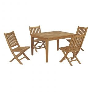 5 Piece Outdoor Patio Teak Outdoor Dining Set EEI-3288