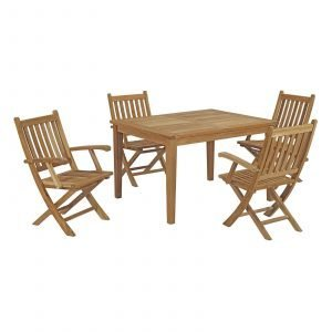 5 Piece Outdoor Patio Teak Outdoor Dining Set EEI-3289