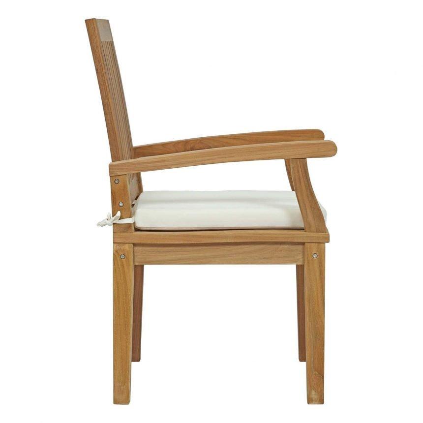7 Piece Outdoor Patio Teak Outdoor Dining Set Chair Side EEI-3292