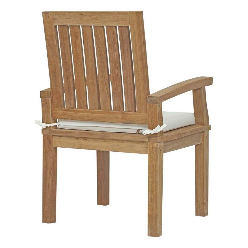 7 Piece Outdoor Patio Teak Outdoor Dining Set Chair Back EEI-3292