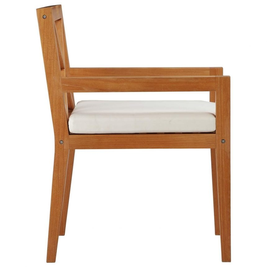 Outdoor Patio Premium Grade A Teak Wood Dining Armchair Side EEI-3426