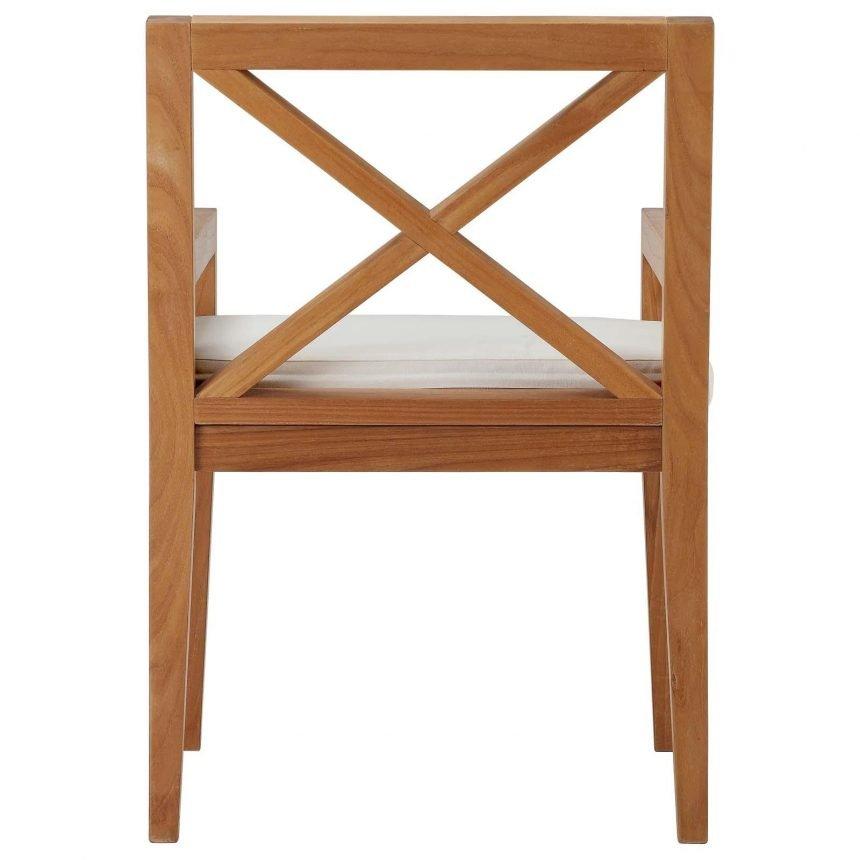 Outdoor Patio Premium Grade A Teak Wood Dining Armchair Back EEI-3426