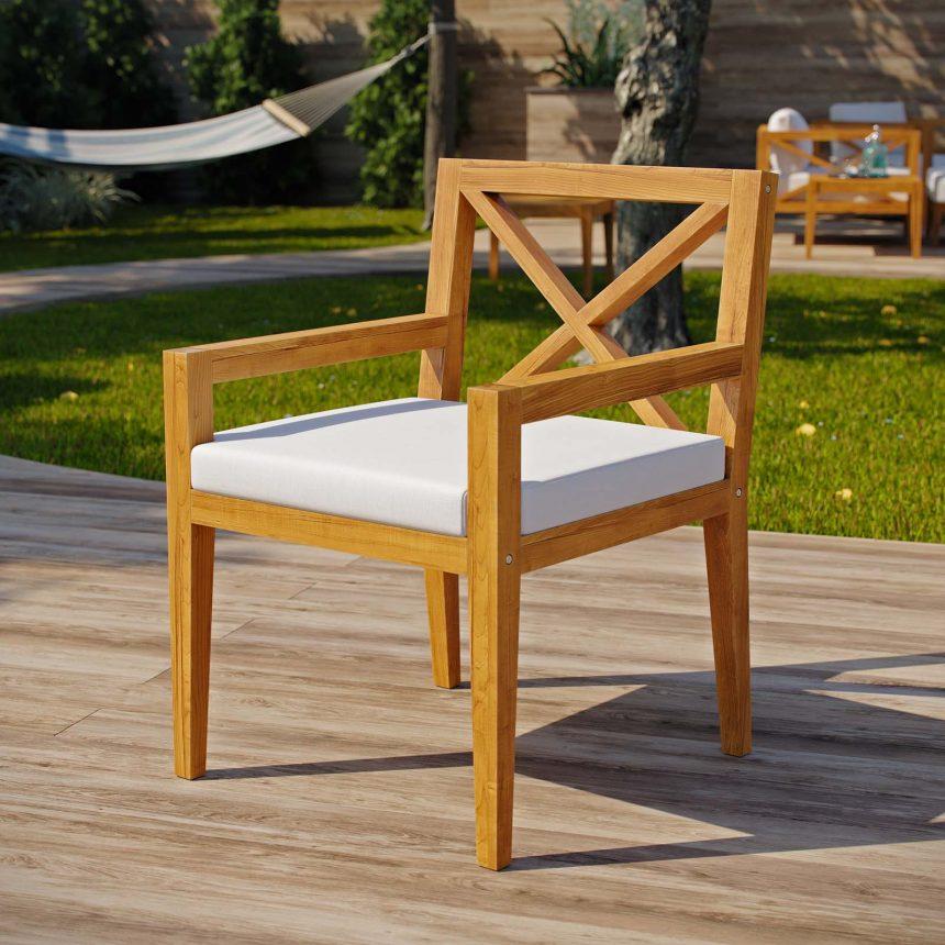 Outdoor Patio Premium Grade A Teak Wood Dining Armchair EEI-3426