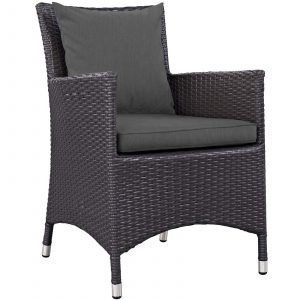Dining Outdoor Patio Armchair in Espresso Charcoal EEI-1913