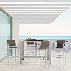 5 Piece Outdoor Patio Aluminum Dining Set EEI-2588