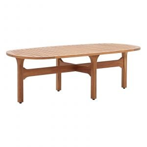 Outdoor Patio Premium Grade A Teak Wood Oval Coffee Table EEI-2930
