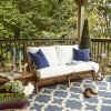Saratoga Outdoor Patio Teak Loveseat EEI-2932