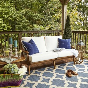 Saratoga Outdoor Patio Teak Loveseat EEI-2932
