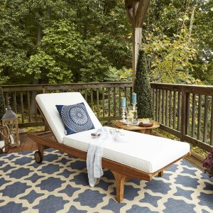 Outdoor Patio Teak Chaise Lounge EEI-2937