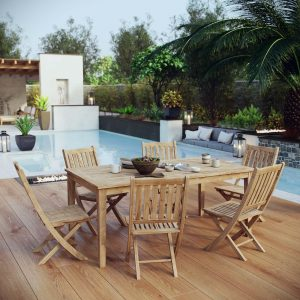7 Piece Outdoor Teak Outdoor Dining Set EEI-3205