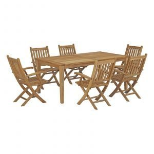 7 Piece Outdoor Patio Teak Outdoor Dining Set EEI-3206