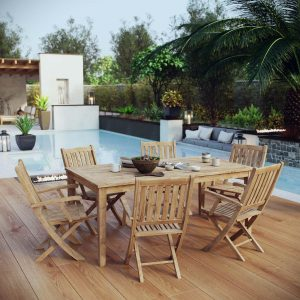 7 Piece Outdoor Teak Outdoor Dining Set EEI-3206