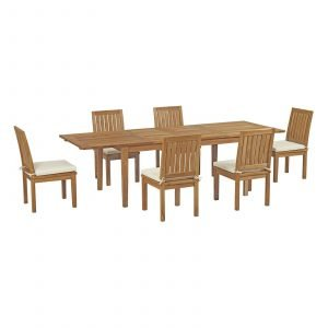 7 Piece Outdoor Patio Teak Outdoor Dining Set EEI-3207