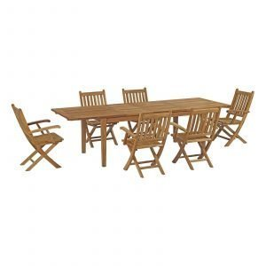 7 Piece Outdoor Patio Teak Outdoor Dining Set EEI-3280