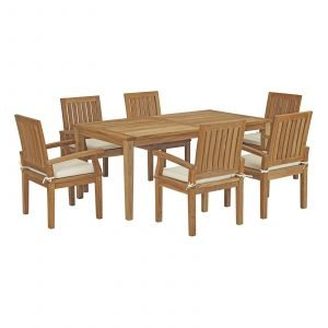 7 Piece Outdoor Patio Teak Outdoor Dining Set EEI-3295